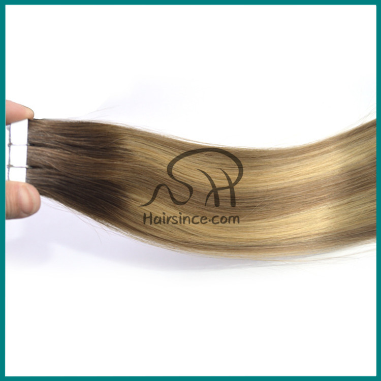 New T-color Human hair piano color tape on hair extension - 副本 - 副本
