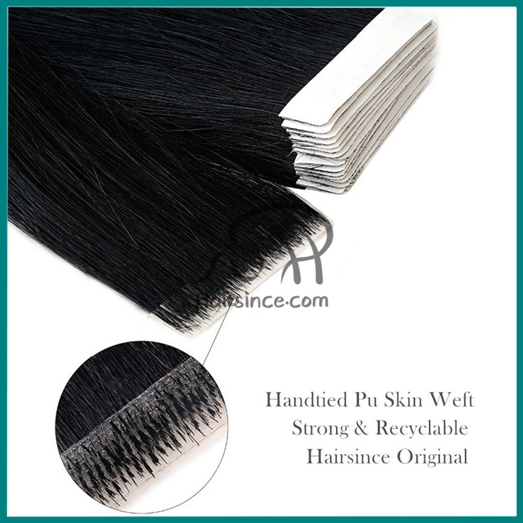 Full Handtied Brazilian Virgin Hair Tangle Free Thin PU Skin Weft