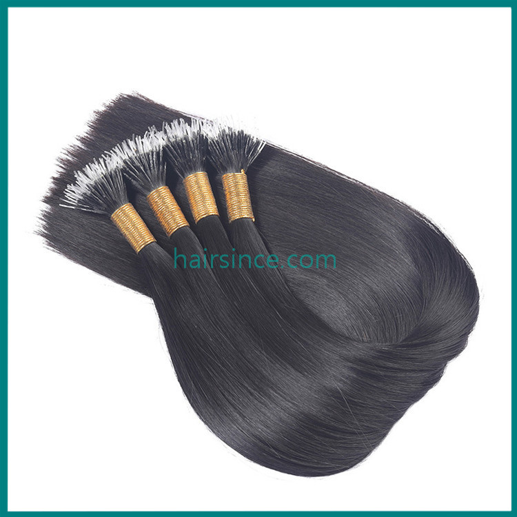 Hot popular elastic style i tip pre-bonded hair extensions remy human hair wholesale price from factory