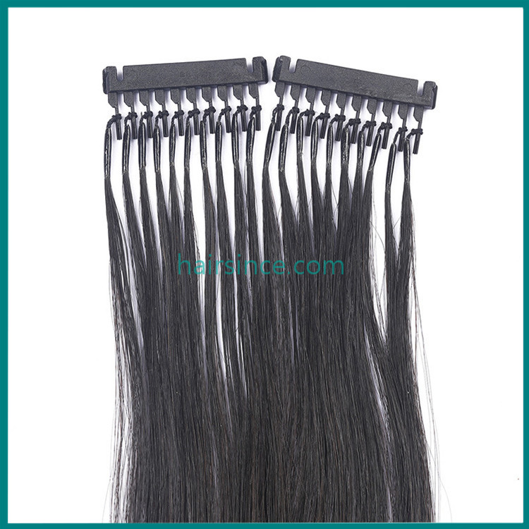 I tip 6D pre-bonded hair extensions 100% remy human hair extensions from Alibaba