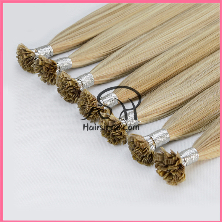European hair pre-bonded flat tip hair double drawn keratin flat tip hair extensions