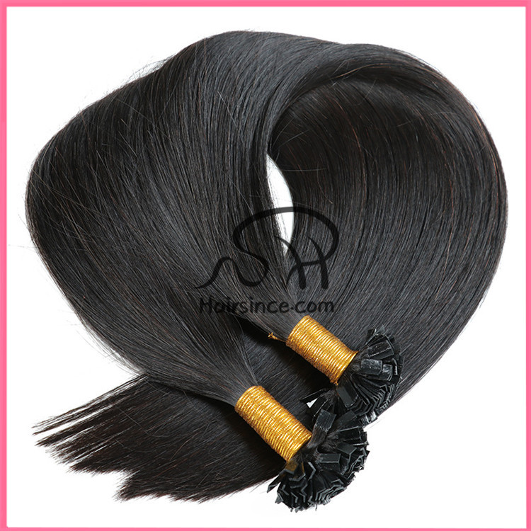 6A Indian hair glued V tip hair extensions