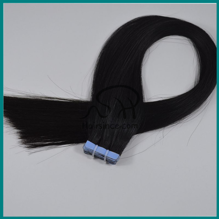 Top quality black Brazilian hair color #1 tape in hair extensions