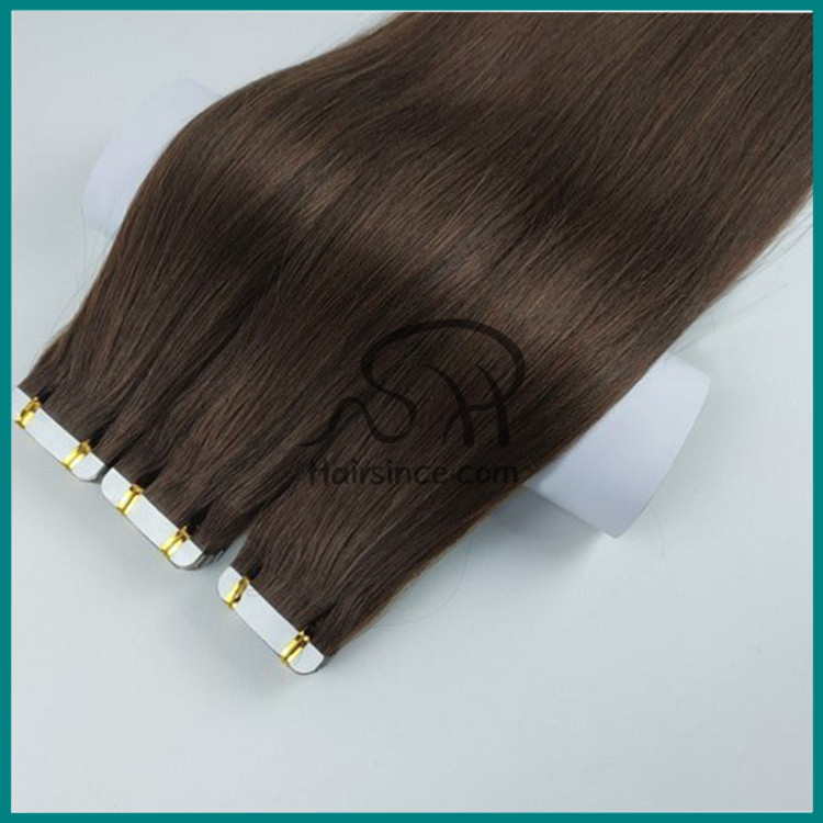 Peruvian virgin hair pu skin weft remy hair tape in hair extension