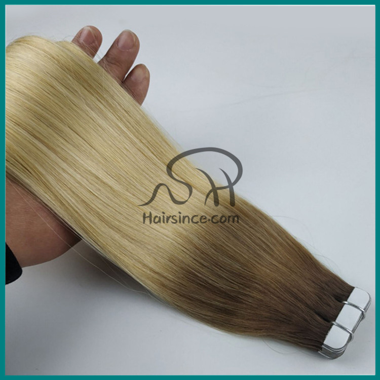 Hot sale Indian hair tape in hair extension double tape pu skin weft