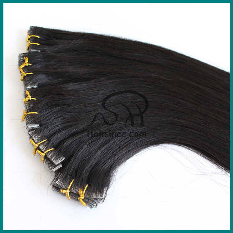 Top quality natural Peuvian hair injected super thin pu skin weft
