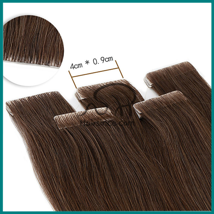 Peruvian virgin hair hand made pu skin weft 100g