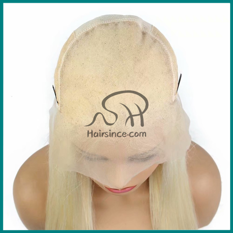 White Blonde Lace Front Wig with Baby Hair European Hair Wigs for Women