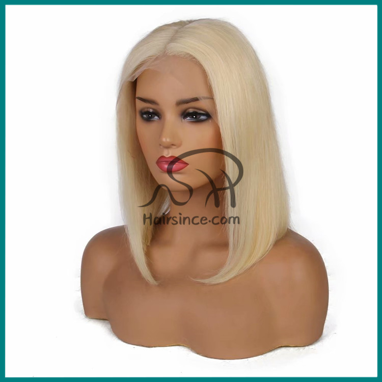 100% Indian virgin hair wig blonde 613 Swiss lace front lace wig BOBO Wigs